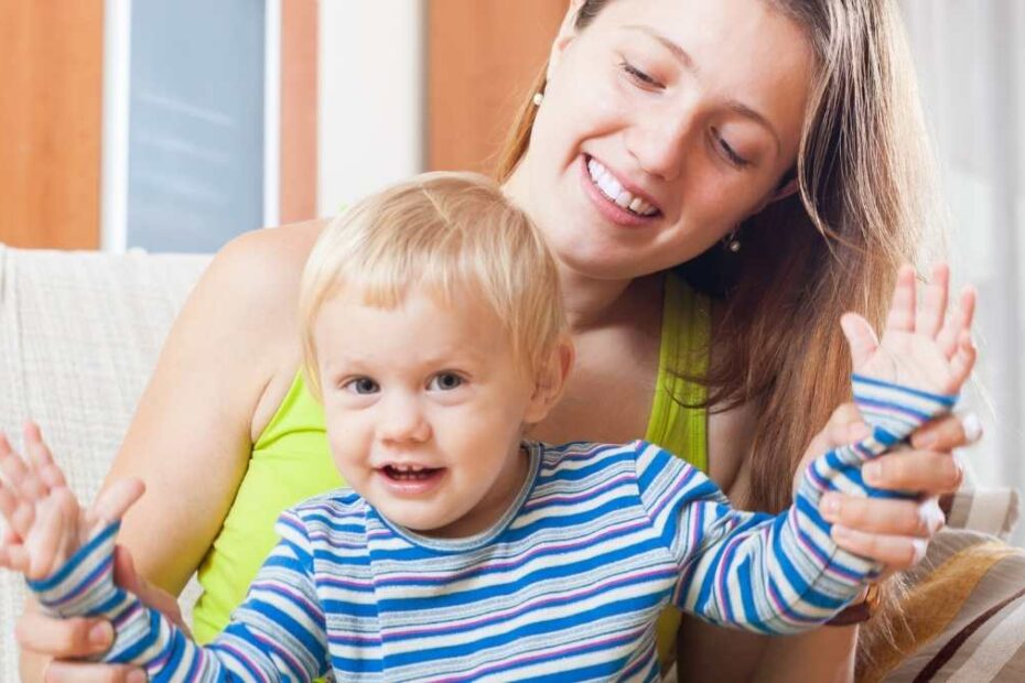 toddler spending time with mom