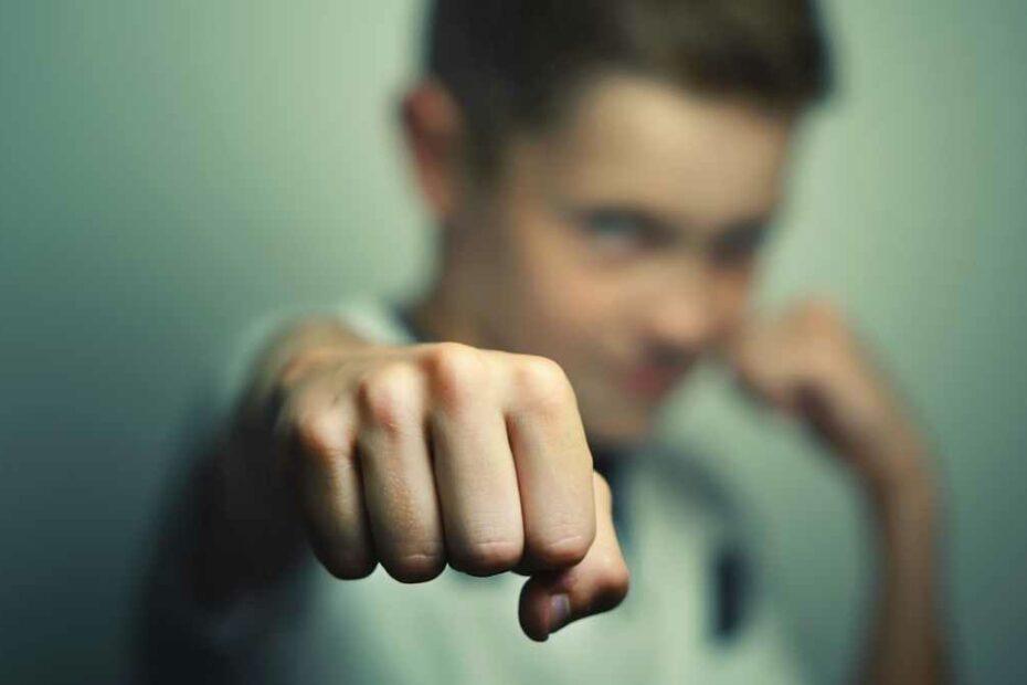 child punching